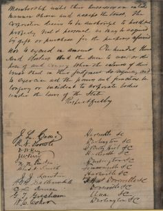Early document relating to Welsh Neck High