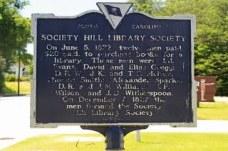 Society Hill Library Society Historical Marker (Back)