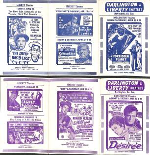 Liberty Theater movie stubs